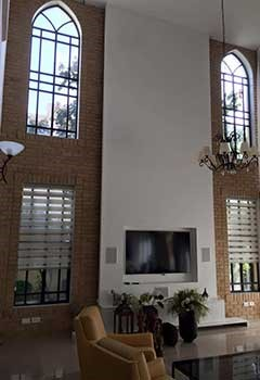 Motorized Cellular Shades Installation In Northwood